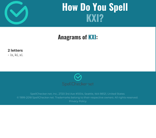Correct spelling for KXI