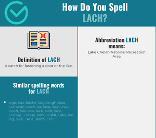Correct spelling for LACH