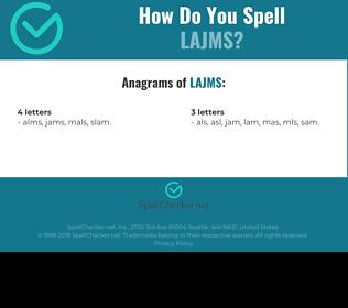 Correct spelling for LAJMS