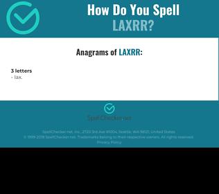 Correct spelling for LAXRR