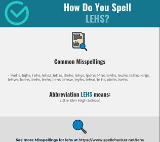Correct spelling for LEHS