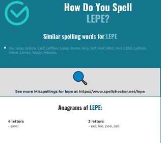 Correct spelling for LEPE