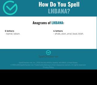 Correct spelling for LHBANA
