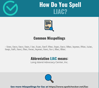 Correct spelling for LIAC