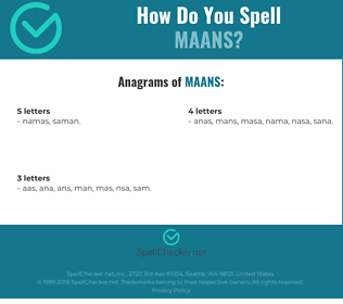 Correct spelling for MAANS