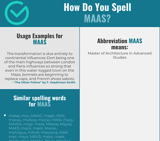 Correct spelling for MAAS