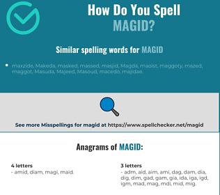 Correct spelling for MAGID