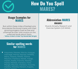 Correct spelling for MARES