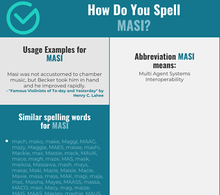 Correct spelling for MASI
