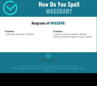 Correct spelling for MASSDAR