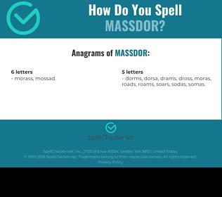 Correct spelling for MASSDOR