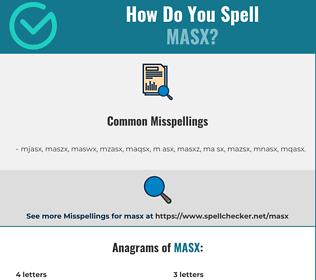 Correct spelling for MASX