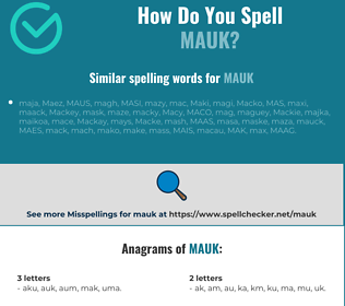 Correct spelling for MAUK