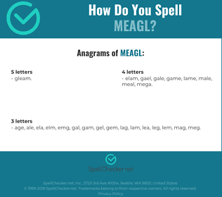 Correct spelling for MEAGL
