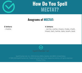 Correct spelling for MECTAT