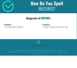 Correct spelling for MESIMS