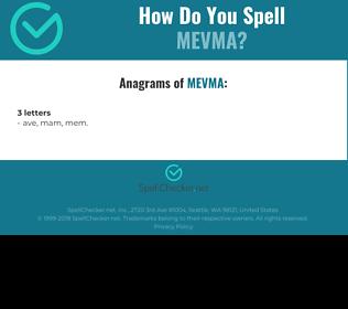 Correct spelling for MEVMA