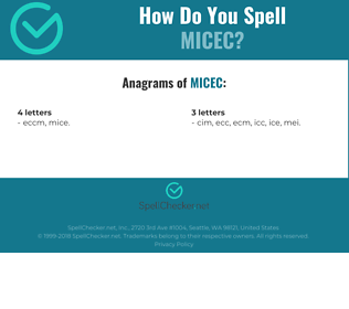 Correct spelling for MICEC