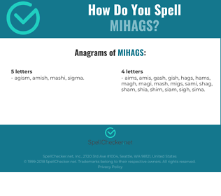 Correct spelling for MIHAGS
