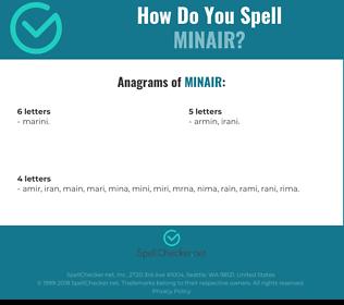 Correct spelling for MINAIR