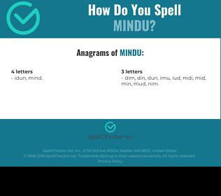 Correct spelling for MINDU