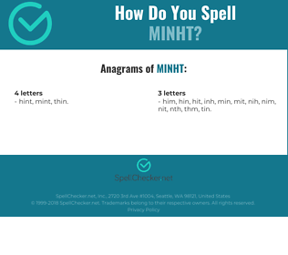 Correct spelling for MINHT