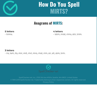 Correct spelling for MIRTS