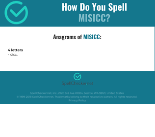 Correct spelling for MISICC