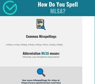 Correct spelling for MLSA