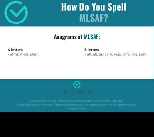 Correct spelling for MLSAF
