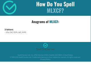 Correct spelling for MLXCF