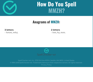 Correct spelling for MMZH
