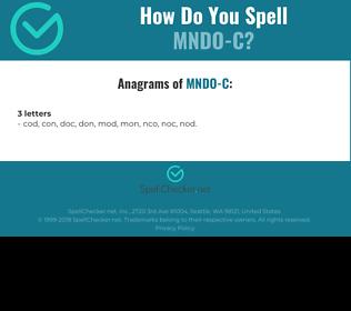 Correct spelling for MNDO-C
