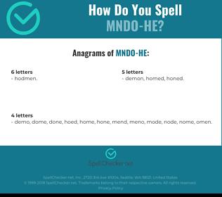 Correct spelling for MNDO-HE