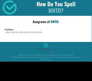 Correct spelling for MNTD