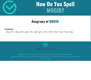 Correct spelling for MOGID