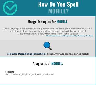 Correct spelling for MOHILL
