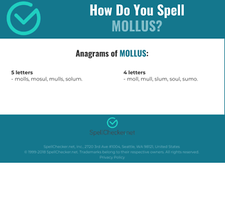 Correct spelling for MOLLUS