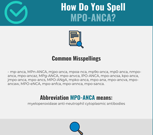 Correct spelling for MPO-ANCA