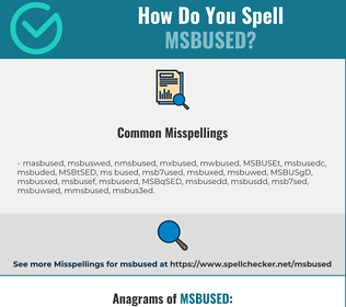 Correct spelling for MSBUSED