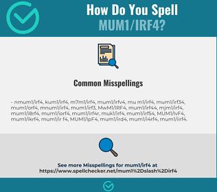 Correct spelling for MUM1/IRF4