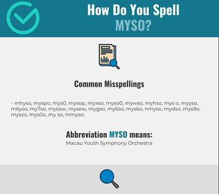 Correct spelling for MYSO