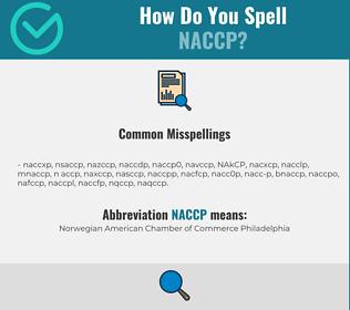 Correct spelling for NACCP