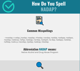 Correct spelling for NADAP