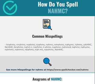 Correct spelling for NAHMC