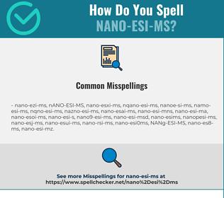 Correct spelling for NANO-ESI-MS