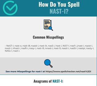 Correct spelling for NAST-I