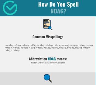 Correct spelling for NDAG