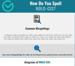 Correct spelling for NDLO-CIS