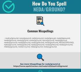 Correct spelling for NEDA/GROUND